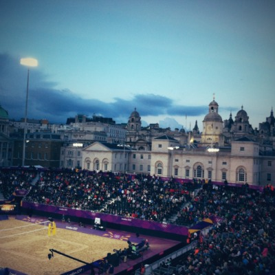 with Lauren at London 2012 venue - Horse Guards Parade