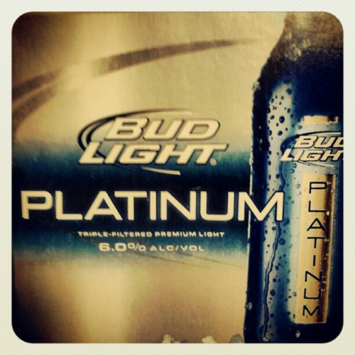 Cus everything else doesn't do the job #beer #platinum #alcohic (Taken with Instagram)