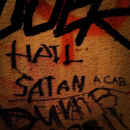 Hail Satan (a cab) (Taken with Instagram)