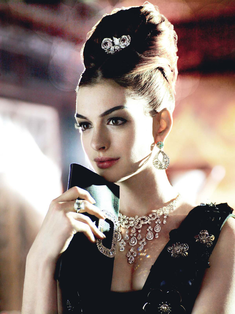 "bohemea:  Anne Hathaway: Happily Ever After - Vogue by Mario Testino, November 2010  As anon would say, ""Dear Anne, 'i feel like you have a mental disorder and you think you are legit Audrey Hepburn…. your not Audrey wake up'"""