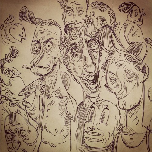 Doodleheads… #sketchbook #sketch #drawing #draw #doodle #doodles #enstregiluften  (Taken with Instagram)