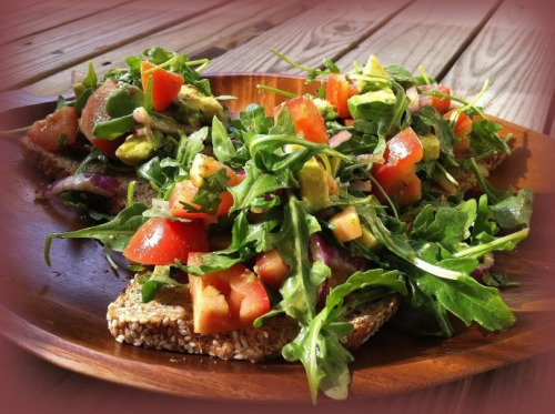 (Click here for recipe Avocado and Tomato Salad with Lime Vinaigrette)