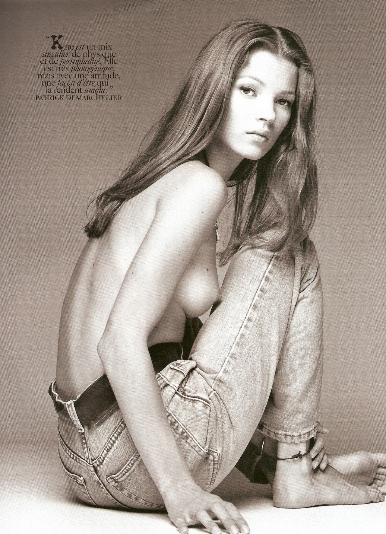 pussylequeer:  Kate Moss photographed by Patrick Demarchelier