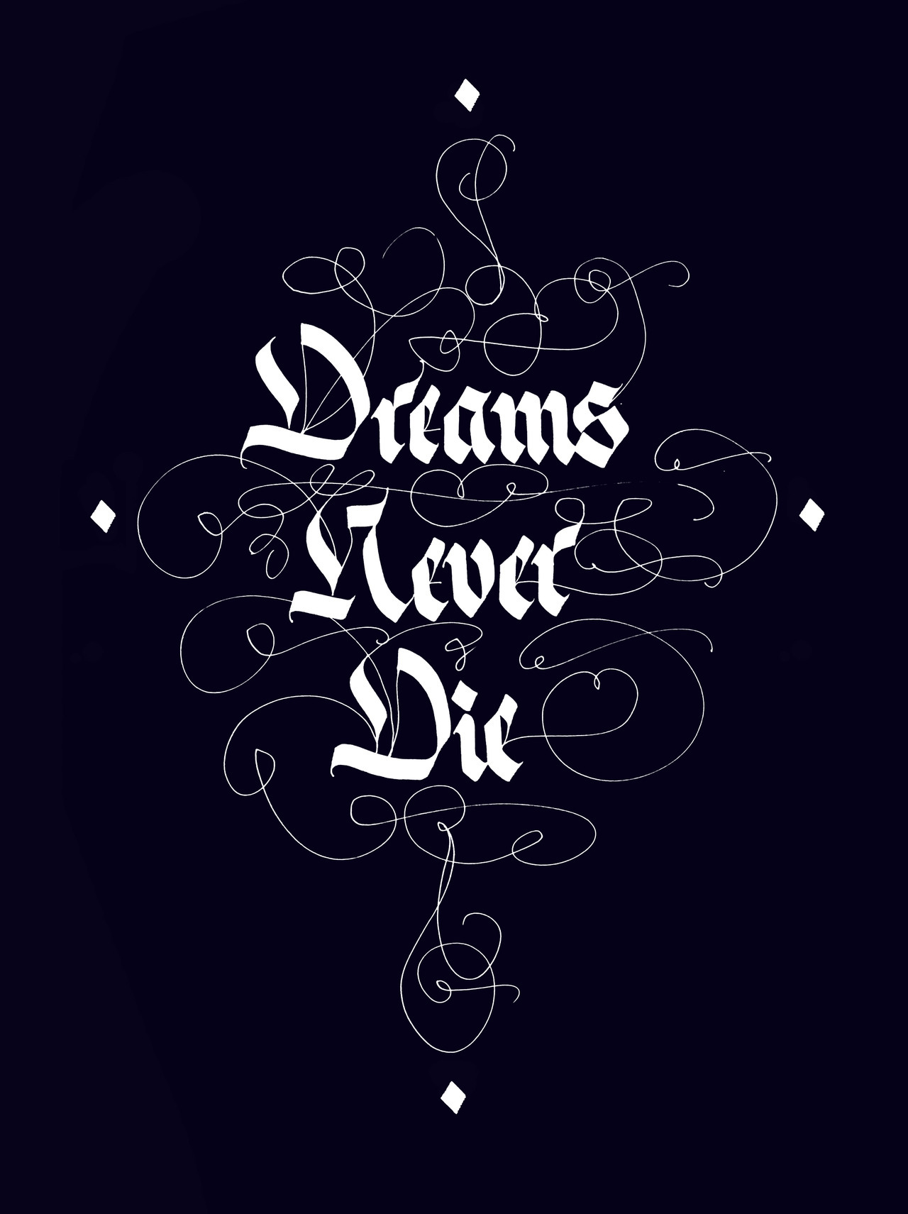 Calligraphi.ca - Dreams Never Die (Tribute to New Order) - Pilot Parallel Pen (Inverted) - Misha Karagezyan
