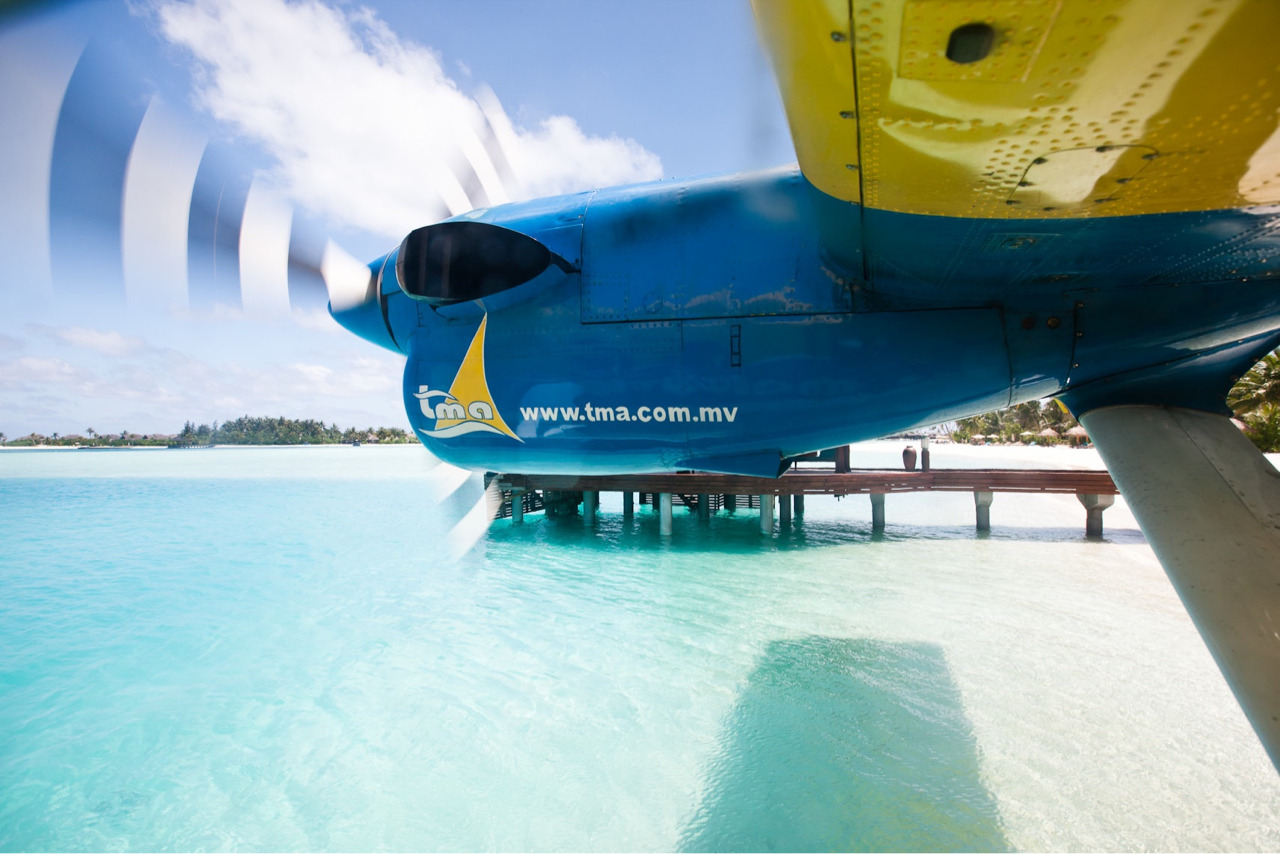 Sea plane - For the Maldives tourist board. Anantara Atoll, Maldives.