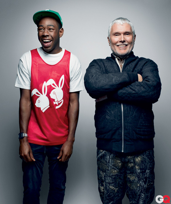 Rapper Tyler, the creator and Writer Glenn O'Brien, from GQ