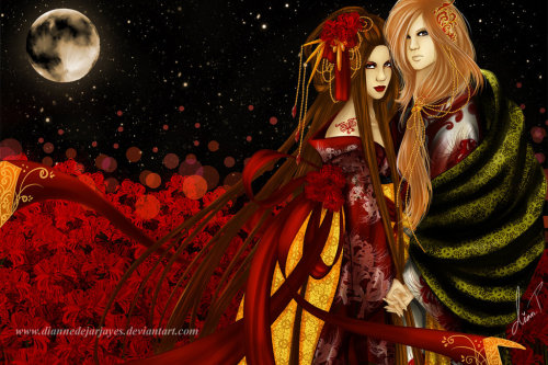 another version, With You Under the Moon Light by ~DianneDejarjayes