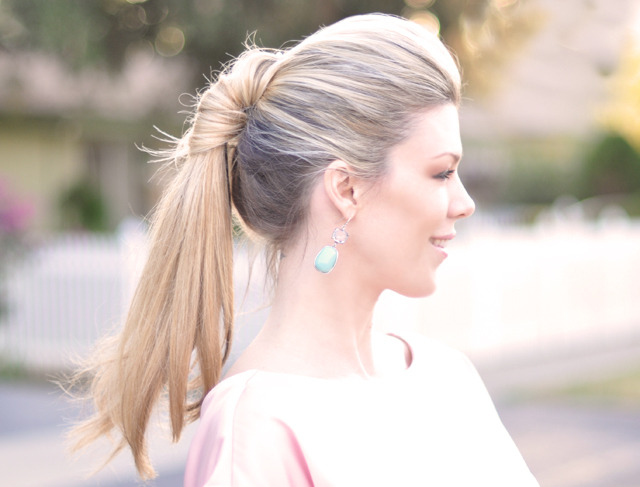 Ponytail Twist | Love Maegan For the eternal ponytail wearers like myself, here is a new way to wear it that is quite chic! And easy to do too - but just a warning, you will probably be just as jealous as me of Maegan's gorgeous hair!