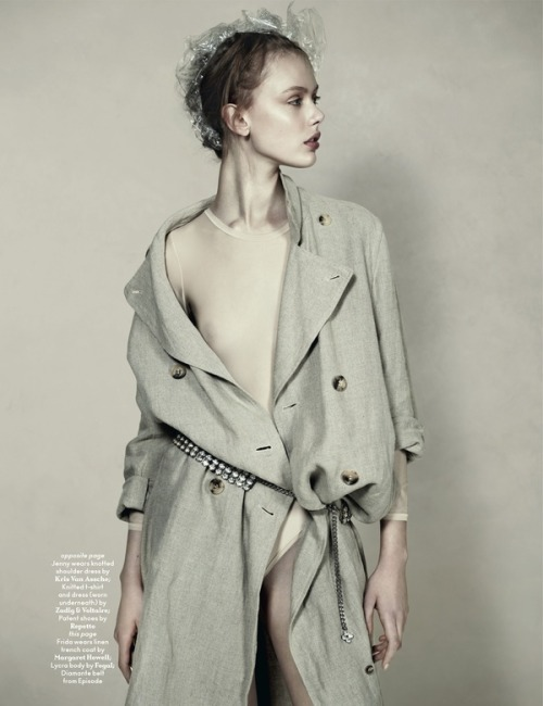 anothermag:   AnOther Magazine S/S10 Frida Gustavsson, photographed by Josh Olins, styled by Cathy Edwards