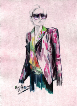 barbrulee:  Polina Knyazeva Illustration. Abbey Lee Kershaw.