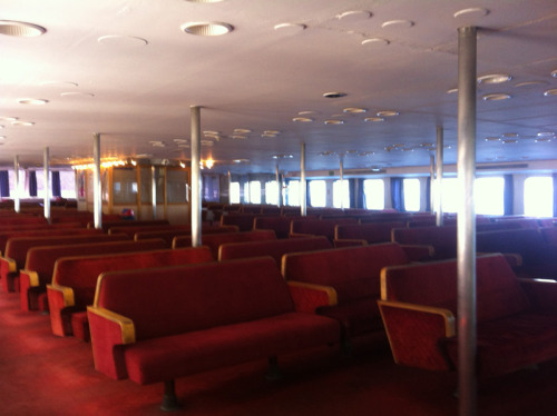 Seats on the Croatian Car Ferry 'Valun'
