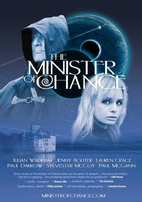 The Minister of Chance … not really a Doctor Who spin-off but kind of a Doctor Who spin-off. Funded directly by the audience. Brilliant idea and production. Features many of the cast of 'original' Who, Blake's 7 and more. Check it out …  Find it on iTunes …  Join the Ministry at the website