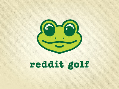 reddit golf logo Logo for a client that publishes golf greens guides.