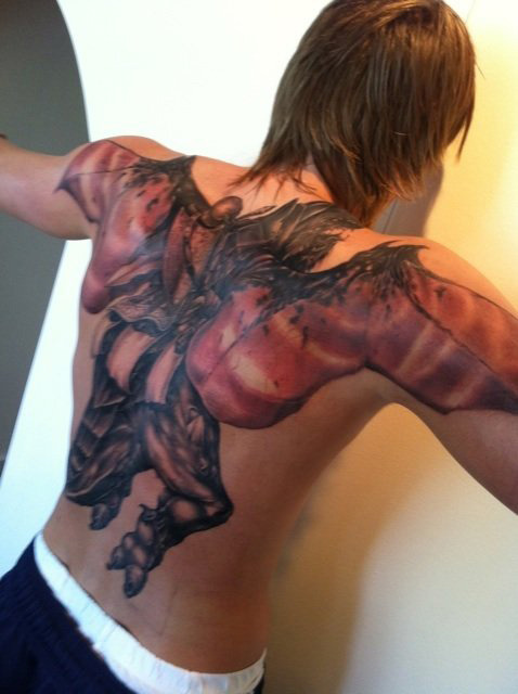 - Athletes' Back Tattoos