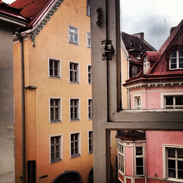 The view from our room in Tallinn's old town, Estonia