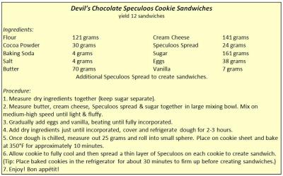 Try the recipe for Devil's Chocolate Speculoos Cookie.  A decadent chocolate cookie with a hint of spice from Le Pain Quotidien's Belgian Speculoos Spread. Tweet us your photos @le_pain_q_ny!