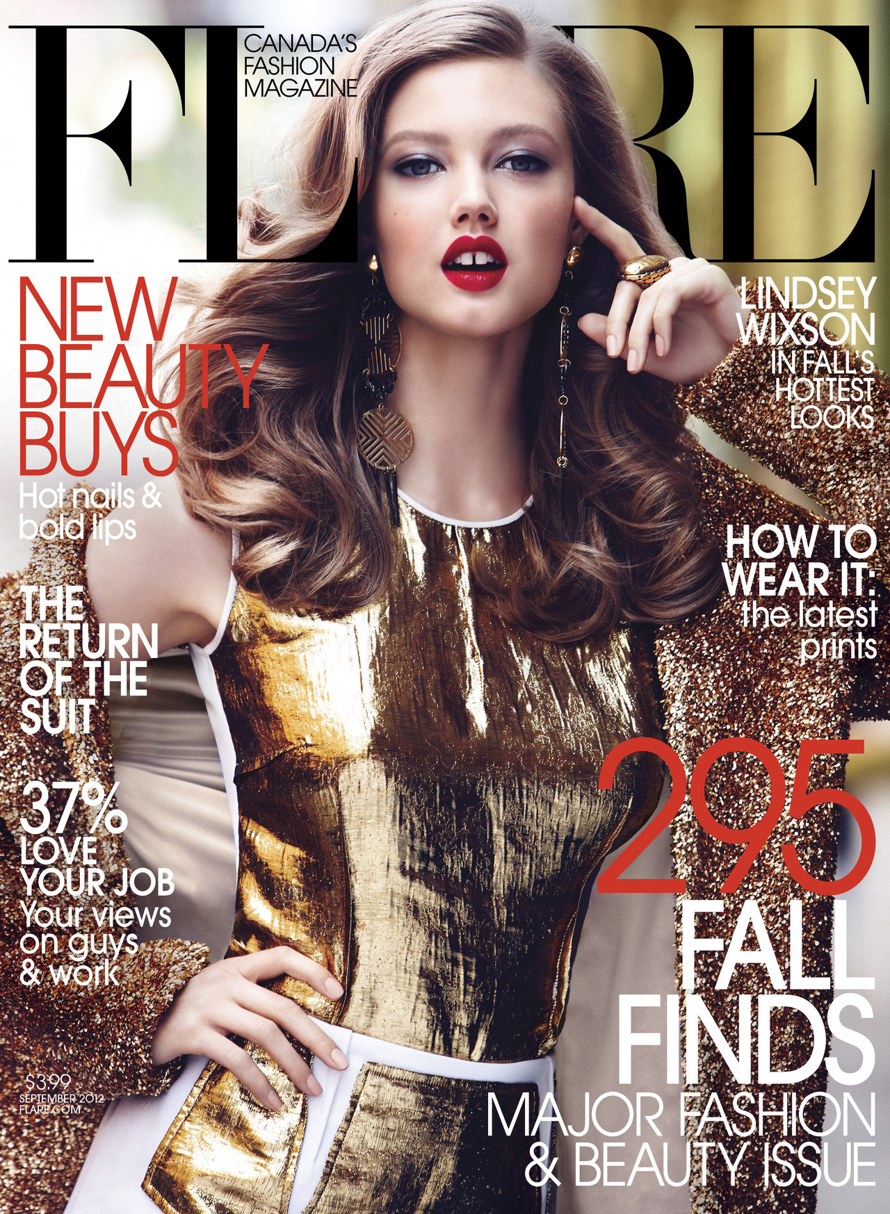 Lindsey Wixson - September 2012 / Fashion Director: Elizabeth Cabral / Acting Art Director: Benjamin MacDonald / Photographer: Max Abadian See behind-the-scenes footage from our September cover shoot in New York.
