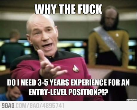 9gag:  Looking for a post-grad job.