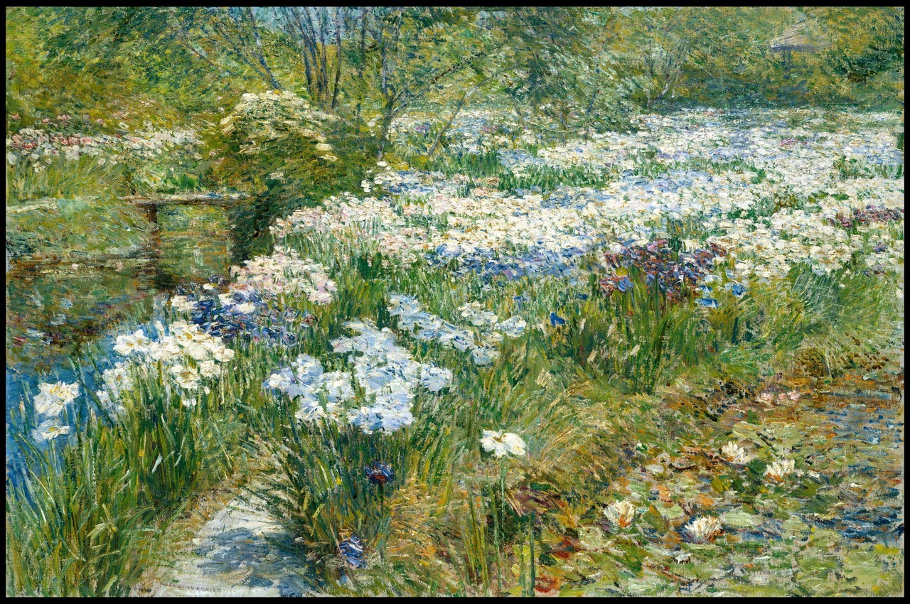 Childe Hassam - The Water Garden, 1909. Oil on canvas