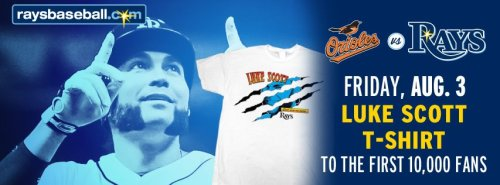 Want a Wolverine T-Shirt? Come out this Friday as the Rays battle AL East Rivals the Baltimore Orioles and the first 10,000 fans will receive this Luke Scott T-Shirt. If you guys could be any superhero, who would you be? #LukeScottShirt