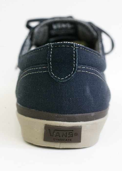 "Vans Syndicate. Derby ""S"" / Dri-Lex. Navy/ Warm Grey."