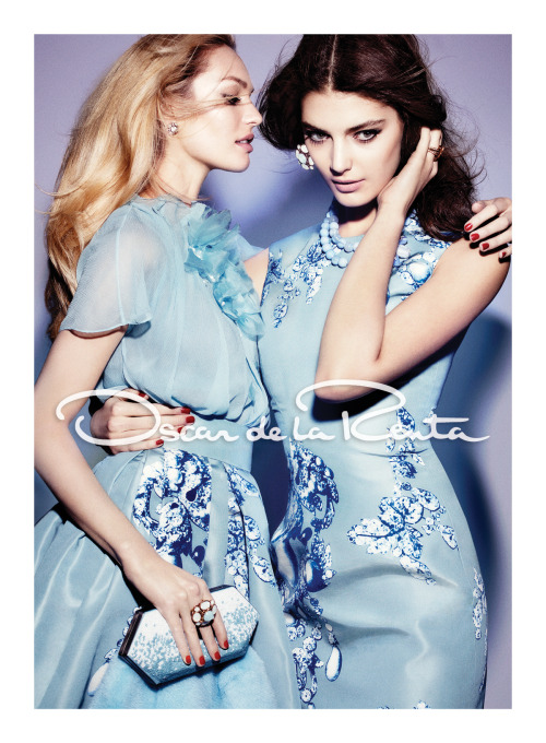 Heavenly Oscar de la Renta fall 2012 campaign with Candice Swanepoel & Katryn Kruger.