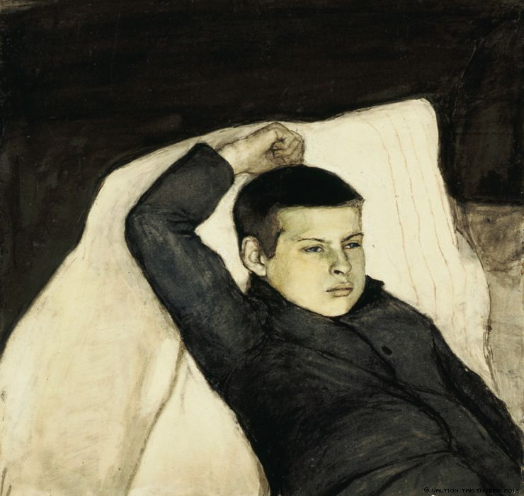 Enckell, Magnus (1870-1925) - 1892 Reclining Boy (Finnish National Gallery, Helsinki, Finland) (by RasMarley)