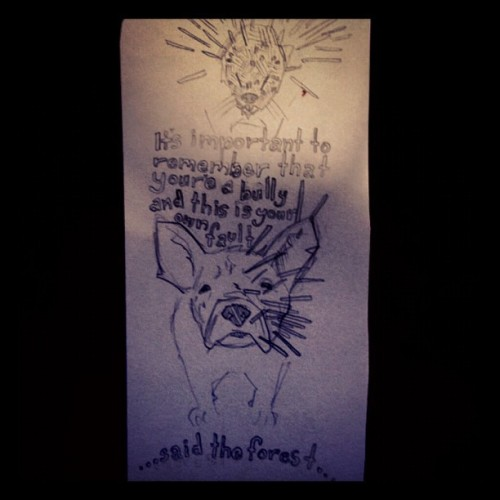 passive aggressive porcupine (Taken with Instagram)