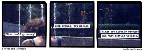 "drinkyourjuice:  A Softer World: 847 We were watching some A&E thing on Dolly Parton yesterday, and at one point in talking about her career she was saying that she had some talent, but mostly she had guts. When the dude asked a followup question to get her to explain that mentality she just said, ""I figured, what's the worst that could happen? I fail? I could always go home."" I loved that a lot."