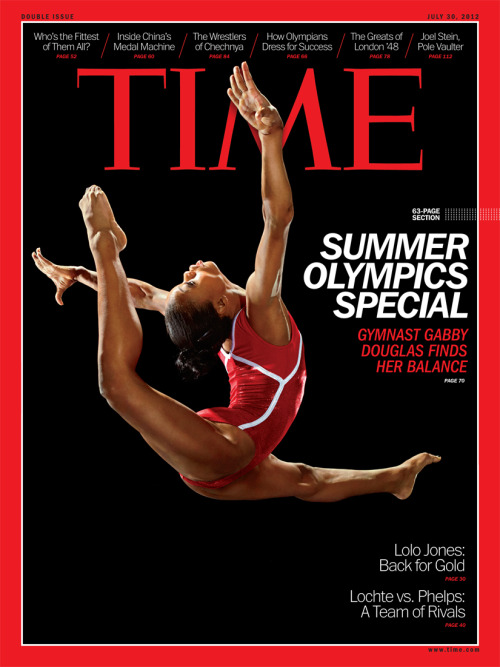 onthecoverof:  Gabby Douglas on the cover of Time Magazine