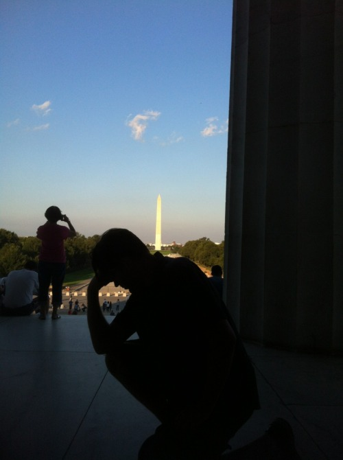 Tebowing @ the Lincoln Memorial