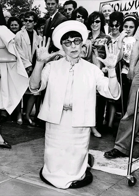 Hollywood costume designer Edith Head being honored at the Hollywood Pavilion, 1964