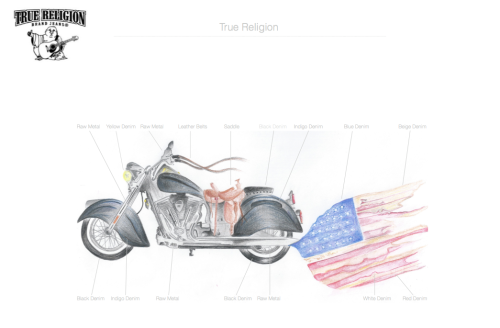 True Religion Instillation Design