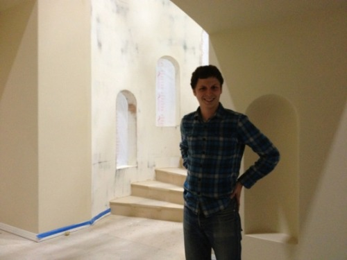 Micheal Cera arrived on the Arrested Development set Saturday.  The caption Jason Bateman wrote for the photo he tweeted is as follows:  My son, arriving yesterday   Cannot wait to see what's in store for the Bluth clan.