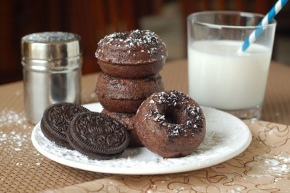 Mini Chocolate Oreo Donuts