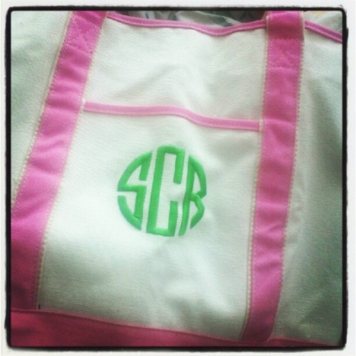 Yay my monogrammed @marleylilly tote arrived! (Taken with Instagram)