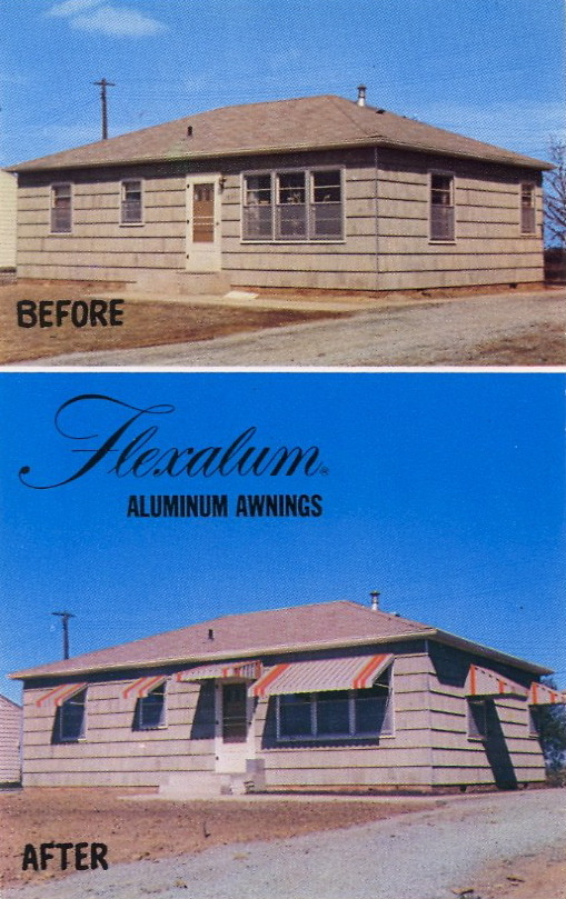 "FLEXALUM ALUMINUM AWNINGS ""Oh, thank you Flexalum, for beautifying our house."""