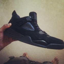 What Yall Youngns Know Bout These…#sneakerhead #air #jordan #IV #blackcat #instagram #oldschool #retro (Taken with Instagram)