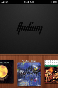Audium - Swiping down on any album cover reveals the text name of that album. /via Mic
