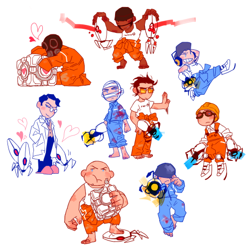 tf2shitfest:  brandnewpart21:  TEAM PORTAL  I think I've reblogged this one million times but hey what's one more