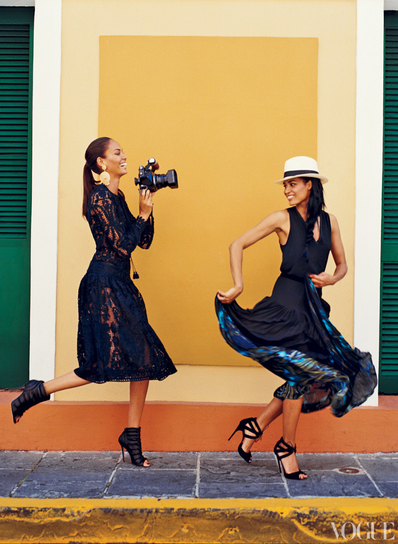 vogue:  Joan and Erika Smalls in Puerto Rico Photographed by Norman Jean Roy  See the slideshow  Joan and Erika Smalls in Puerto Rico.Photographed by Norman Jean Roy.