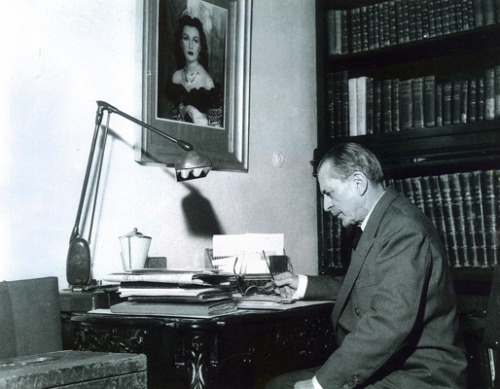 Hossein Ala (1882-1964) 59th Prime Minister of Iran in his office