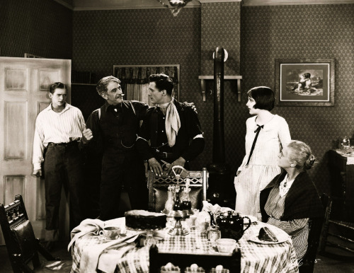 "valentinovamp:  Douglas Fairbanks, Jr., Noah Beery, Jack Holt, Billie Dove and Edith Yorke in ""Wild Horse Mesa"" (1925)."