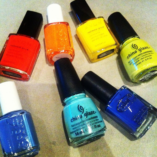 Which color would you paint your nails while watching the Olympics? Photographed by Eva Chen