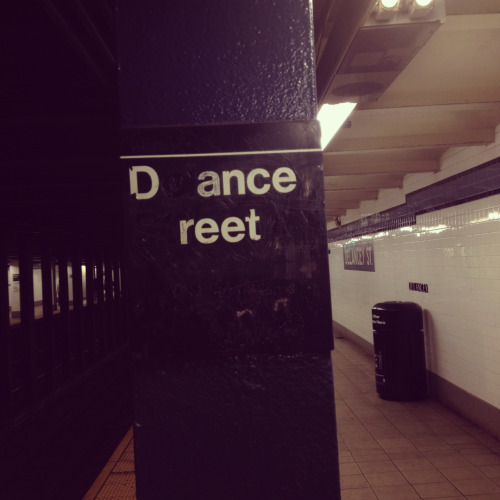 Let's get off at Dance Street…