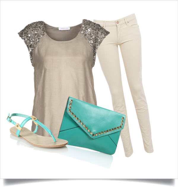 Leo - What you'll wear to the fair with Niall by loulovescolgate featuring embroidered jeansTop, $94 / MOTHER DENIM embroidered jeans, $320 / Faith flat heels, $39 / Mint green handbag
