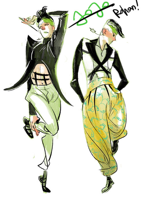 "lalage:  ""Rohan goes to Gaultier"" Outfits from Gaultier Resort & Menswear 2013 via hellotailor I am seriously considering getting that issue of SPUR magazine that has the Rohan goes to Gucci story in it…"