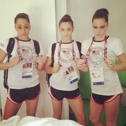 ahhh i LOVE these girls. gymnasts have to be sooo physically and mentally tough. muscle is a must for power and strength, and many of them do yoga for flexibility. a strong core is definitely needed for balance and agility. whoever says gymnasts aren't athletes are just plain idiots.