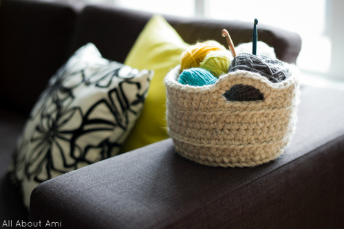 Sneak peek of upcoming blog post: Chunky Crocheted Basket by Crochet in Color