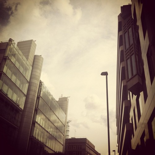 #london #buildings #sky #clouds #city #offices #architecture #modern (Taken with Instagram at Finsbury Square)